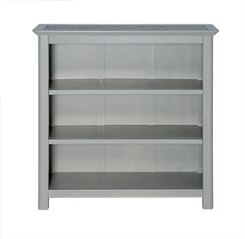 Pearl Low Bookcase With Natural Stone Top -0