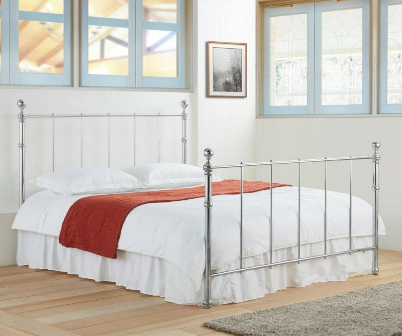 Seville Chrome Metal Bed Frame-0