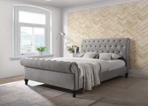 Fabio Grey Upholstered Bed frame-0