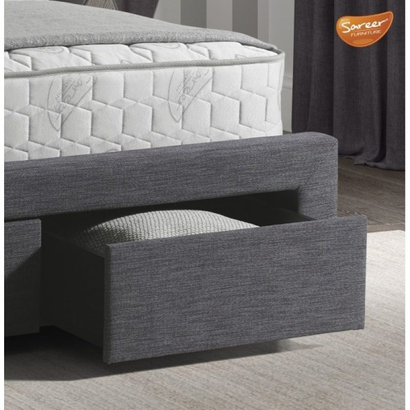 Lovton 2 Drawer Grey Fabric Frame-4264