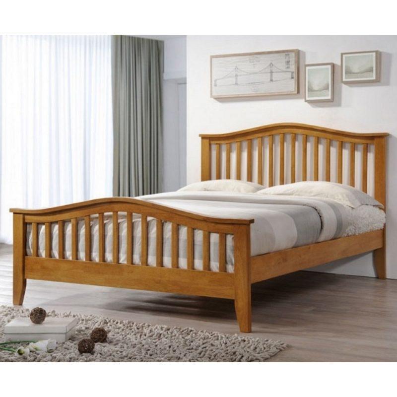 Sandringham Curved Oak Bed Frame-0