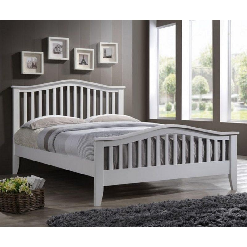 Sandringham Curved White Bed Frame-0