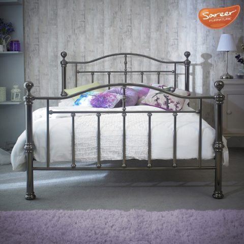 Victoria Black Nickel Bed Frame-0