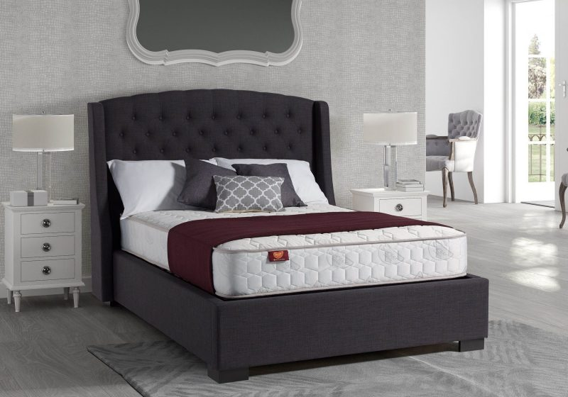 Sovereign Grey Fabric Ottoman-0