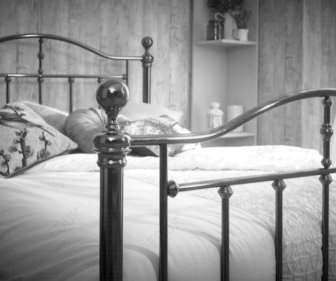 Victoria Black Nickel Bed Frame-4272