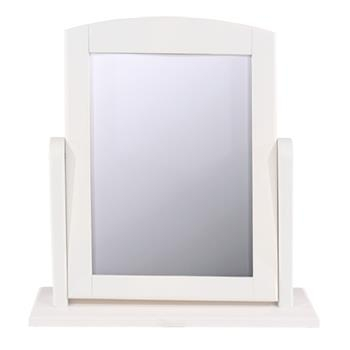 Stire White Wooden Dressing Table Mirror -0
