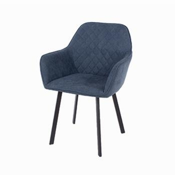 Aspen Pair of Blue Fabric Armchairs -0