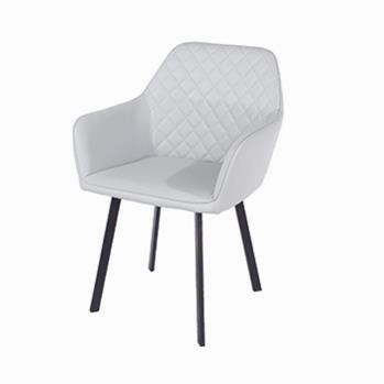 Aspen Pair of Grey PU Armchairs -0