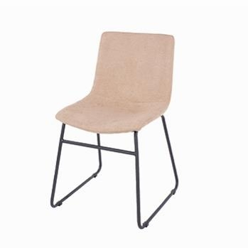 Aspen Pair of Stone Fabric Dining Chairs -0