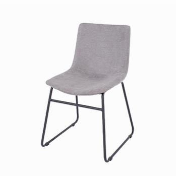 Aspen pair of Grey Fabric Dining Chairs -0