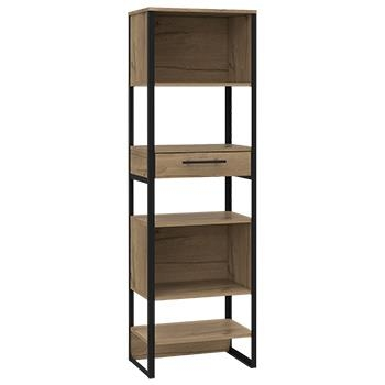 Brooklyn Tall Bookcase with 1 Drawer-0